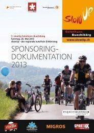 Sponsoringdokumentation - slowUp Solothurn-Buechibärg