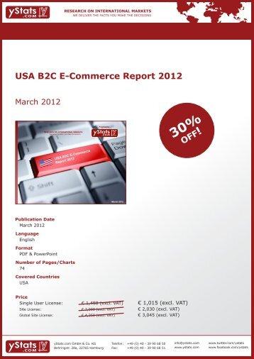 USA B2C E-Commerce Report 2012 - yStats.com