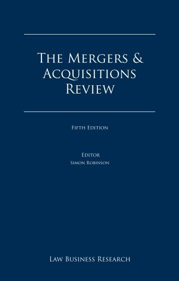 The Mergers & Acquisitions Review - Young Conaway Stargatt ...