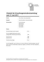 Protokoll der Einwohnergemeindeversammlung vom 17. Juni 2011