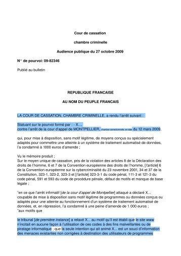 Bulletin des arr ts de la chambre criminelle n 1 janvier for Chambre criminelle