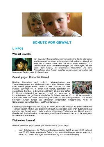 SCHUTZ VOR GEWALT