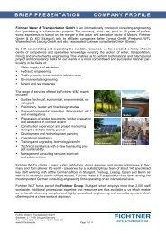 BRIEF PRESENTATION COMPANY PROFILE - Fichtner Water ...