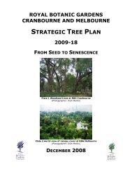 Strategic Tree Plan 2009-18 - Royal Botanic Gardens Melbourne