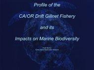 CA/OR Drift Gillnet - Cordell Bank National Marine Sanctuary - NOAA