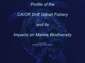 CA/OR Drift Gillnet - Cordell Bank National Marine Sanctuary - NOAA