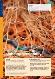 Focus on ecological sustainability - The Co-operative
