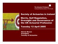 Presentation - Society of Actuaries in Ireland