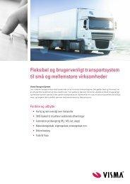 læse vores produktblad om Visma Transport system