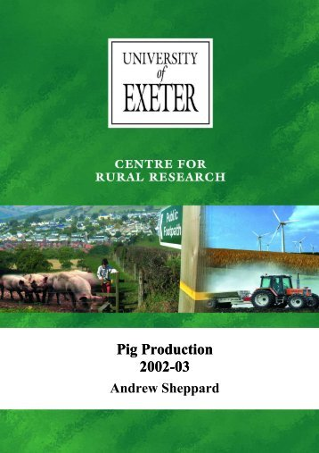 Pig Production 2002-03 - College of Social Sciences and ...