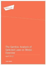 12 04 17 LA gambia - Article 19