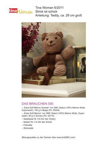 Tina Woman 6/2011 Strick ist schick Anleitung: Teddy ... - Wunderweib