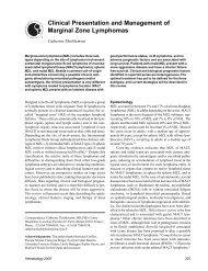 Clinical Presentation and Management of Marginal ... - Hematology