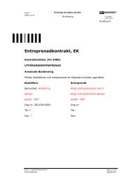 Entreprenadkontrakt, EK - Banportalen