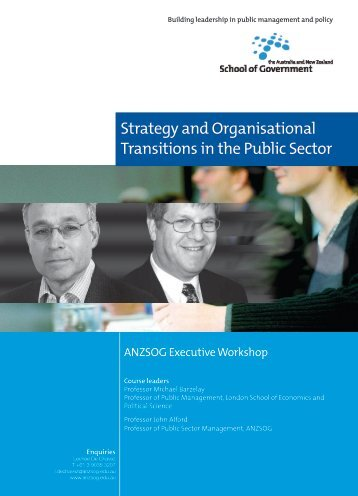 Strategy and Organisational Transitions in the Public Sector