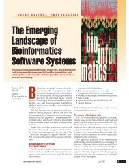 The emerging landscape of bioinformatics software systems ...