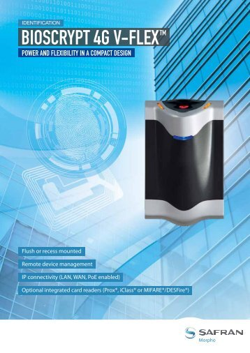 BIOSCRYPT 4G V-FLEX TM - Morpho