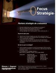 Brochure Parlons stratégie de croissance - Québec International