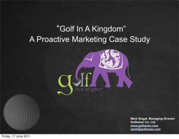 Golf in the Kingdom: - eTATjournal.com