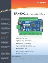 ENTRYPASS EP.N5200Active Network Control Panel - Bricomp ...