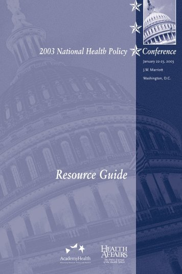 Resource Guide - AcademyHealth