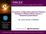 Evaluation of Alternative Particle Filtration Designs to ... - E2S2