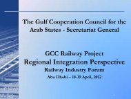 Efforts of GCC countries to ensure interoperability along ... - Unife