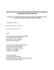 Agricultural Burning - Environmental Health Investigations Branch