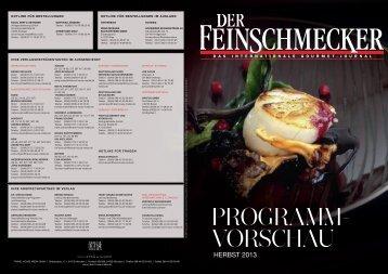 DER FEINSCHMECKER Vorschau Herbst 2013 - Travel House Media