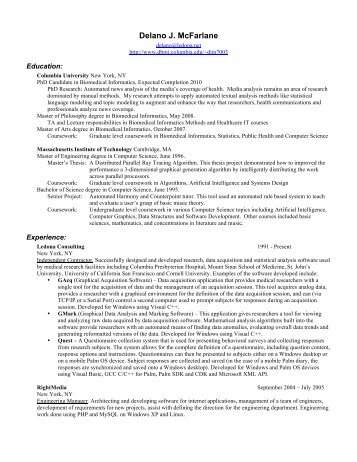 resume - People - Columbia University