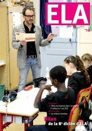 ELA Infos n°76 – décembre 2011