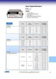 Bench Digital Multimeters - Aspen Electronics