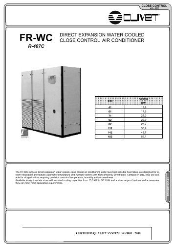 R 407c Direct Expansion Close Control Unit With Remote