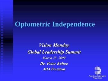 Download PDF Presentation by Dr. Peter Kehoe of American ...