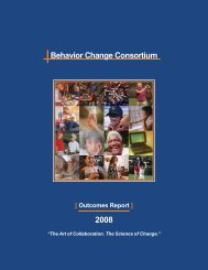Behavior Change Consortium Outcomes Report - Health ...