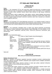 PTT REKLAM YÖNETMELİĞİ