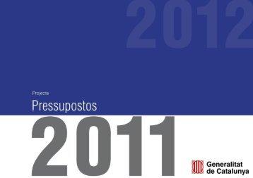 Presentació dels Pressupostos de la Generalitat de Catalunya per al ...