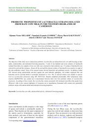 probiotic properties of lactobacilli strains isolated from ... - Bioaliment