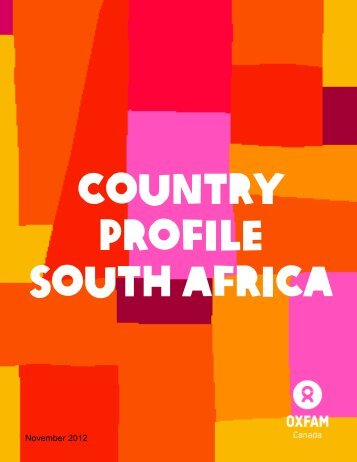 South Africa Country Profile - Oxfam Canada