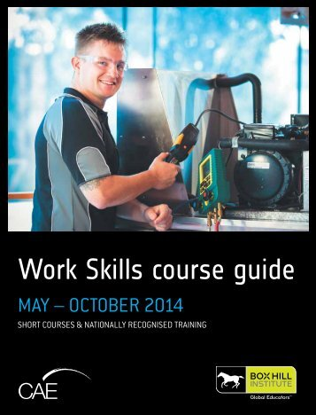 Work Skills course guide - Box Hill Institute of TAFE