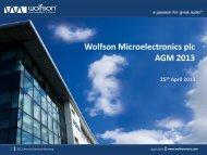 AGM 2013 Presentation - Wolfson Microelectronics plc