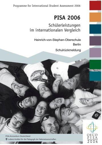 PISA-Ergebnisse 2006 - Heinrich-von-Stephan-Gemeinschaftsschule