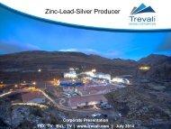 Corporate Presentation - Trevali Mining Corporation