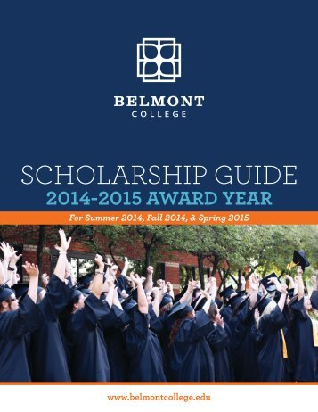 ScholarShip GUiDE - Belmont College