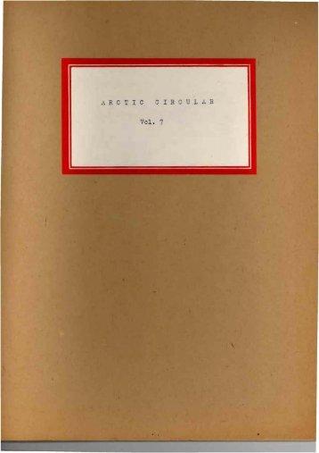 Volume 7, 1954 - The Arctic Circle - Home