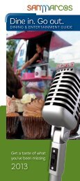 Dining & Entertainment Guide - San Marcos Convention and Visitor ...