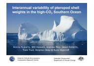 Interannual variability of pteropod shell weights in the high ... - SCOR