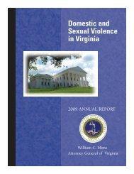 Domestic Violence Annual Report - Virginia Attorney General