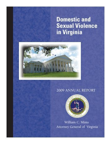 Domestic Violence Annual Report - Virginia Attorney General