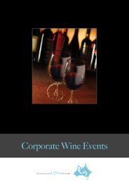 Corporate Wine Events - Crown Wine Cellars